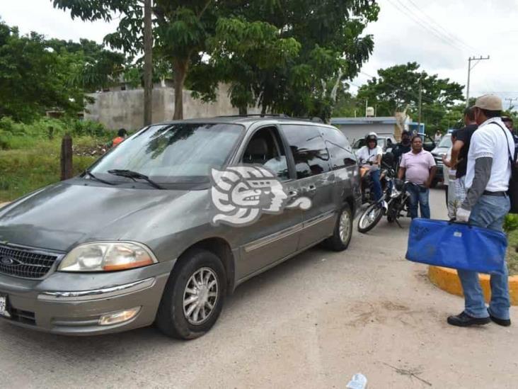 Tres heridos el saldo de dos choques en Acayuca y Oluta