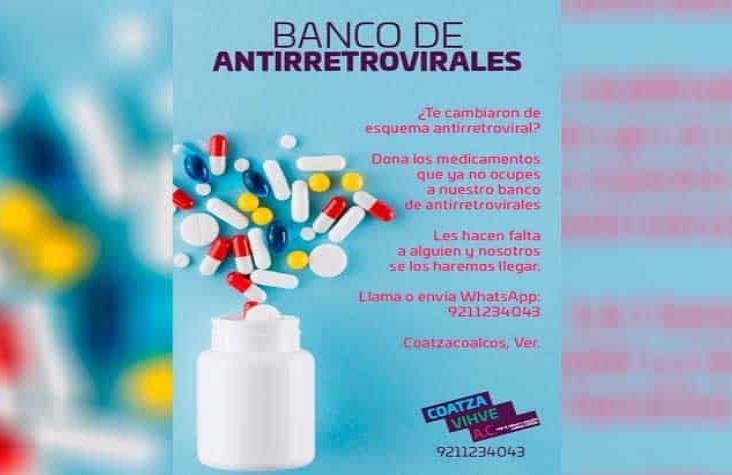 Coatza Vihve AC tiene vigente su banco de recolección de antiretrovirales