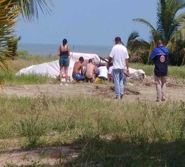 Cae aeronave en Tecolutla; reportan 1 muerto