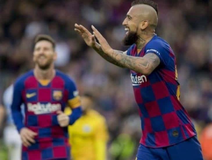 Arturo Vidal se despidió del FC Barcelona