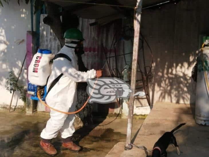 CROM sanitiza domicilios de recuperados de Covid para prevenir mas contagios