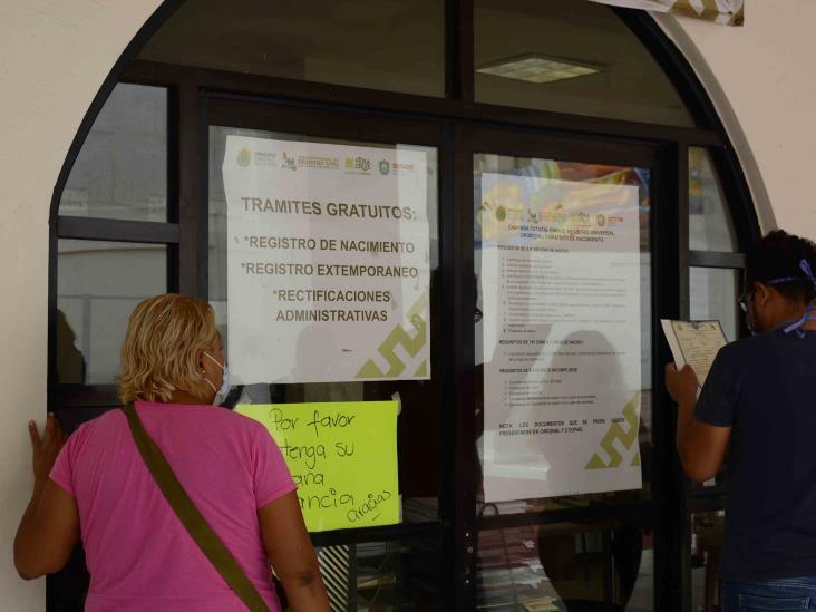 Reanudan expedición de actas certificadas en RC de Coatzacoalcos