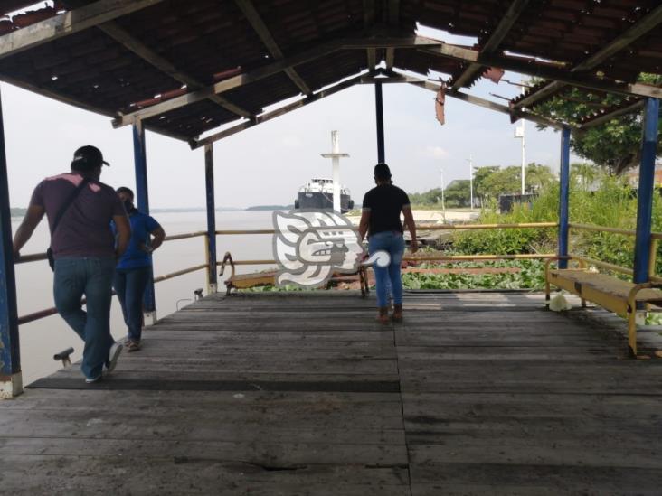 Cierran el embarcadero de lanchas en Nanchital