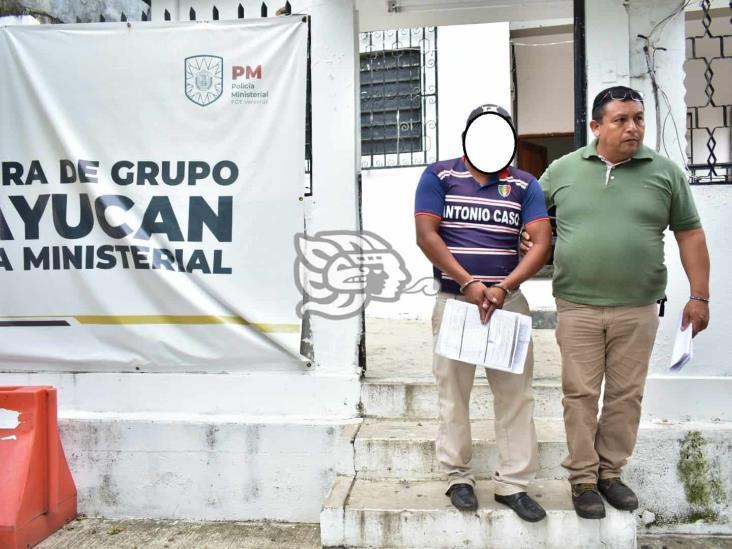 Detiene PME a joven por abusar sexualmente de su hijastra en Acayucan