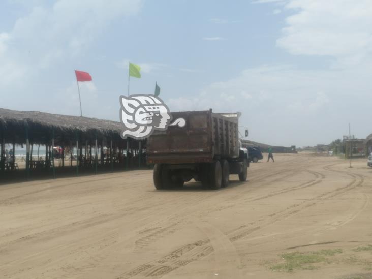 Señalan a Termoeléctrica por robar arena de playas de Tuxpan
