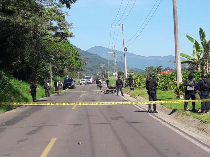 Muere motociclista en asalto a Servidores de la Nación en Chocamán