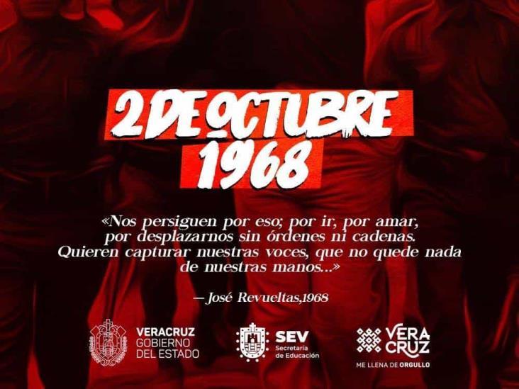 Dejó 2 de octubre abierta la herida de juventud combativa: SEV