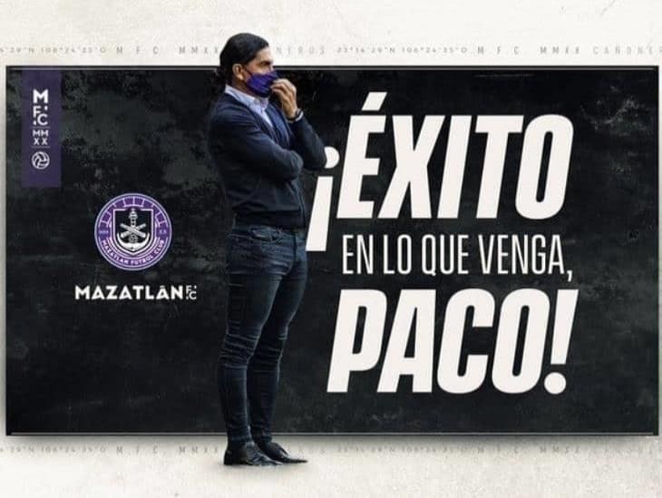 Francisco Palencia deja la dirección técnica de Mazatlán FC