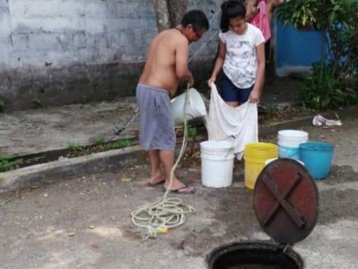 Por mantenimiento a tuberías, 11 colonias de Coatzacoalcos no tendrán agua