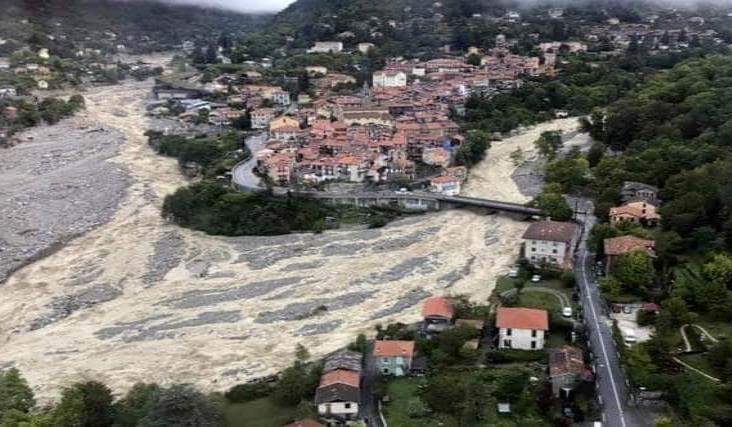 Inundaciones dejan 4 muertos y cientos de damnificados en Francia e Italia