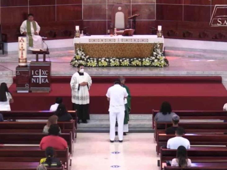 Catedral San José de Coatzacoalcos celebró misa de catecúmenos