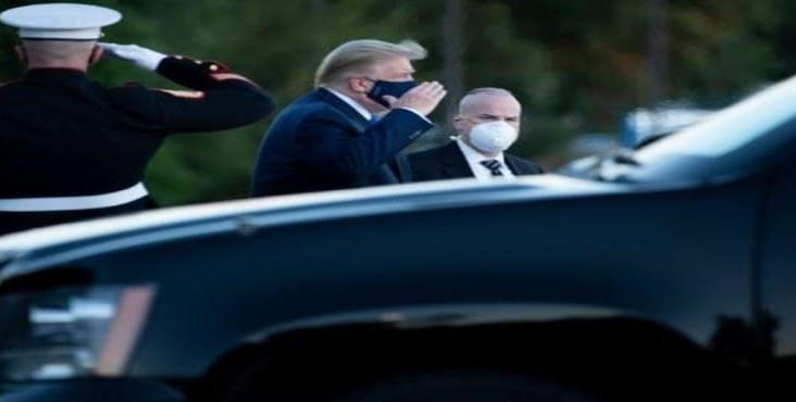 Trump abandonó el hospital militar Walter Reed luego de tres días