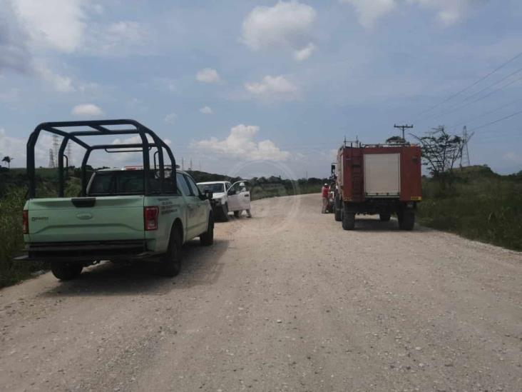 Fuga de salmuera provoca movilización en calles de Nanchital