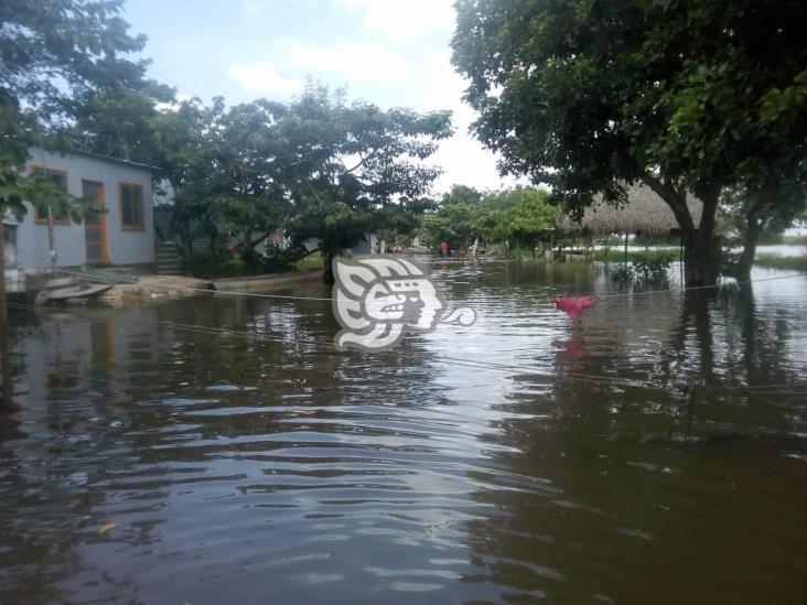 Agua se estanca alrededor de viviendas en colonias de Las Choapas