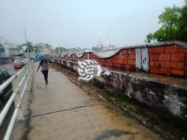 El malecón de Minatitlán se sigue hundiendo