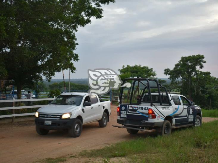 Fuerza Civil irrumpe en el rancho Santa Rocío en Texistepec