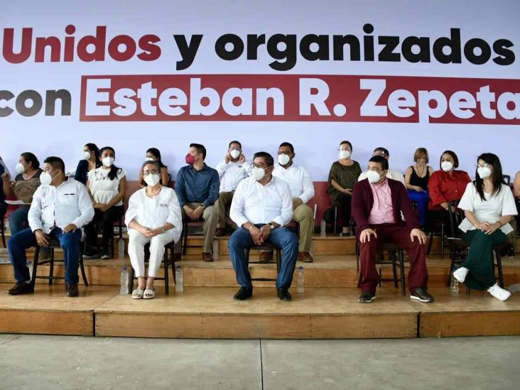 Respaldan militantes de Morena en Veracruz a Ramírez Zepeta