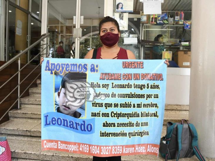 Desde Xalapa, piden ayuda para la operación de Leonardo
