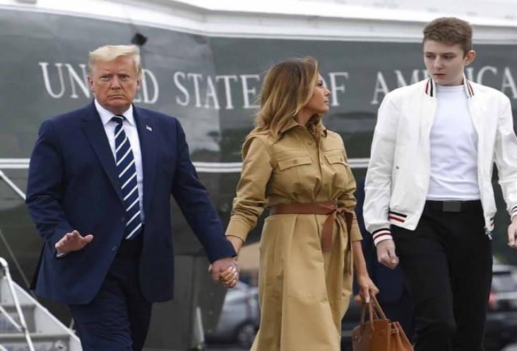 Hijo menor de Donald Trump tuvo coronavirus, informa Melania