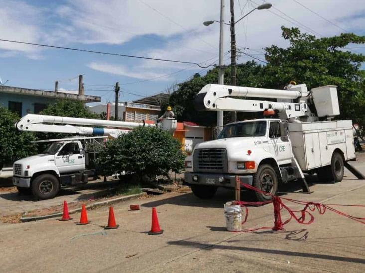 Por mantenimiento, suspenderán servicio de luz en algunos puntos de Coatzacoalcos