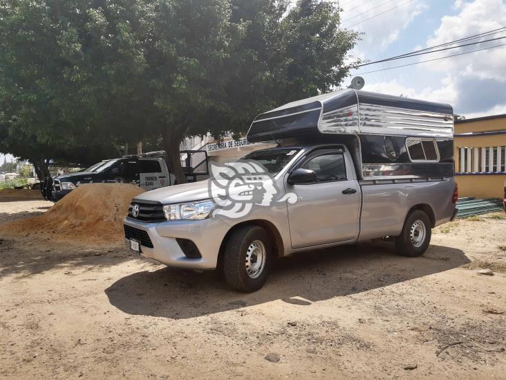 Recupera Fuerza Civil camioneta robada a punta de pistola en Acayucan