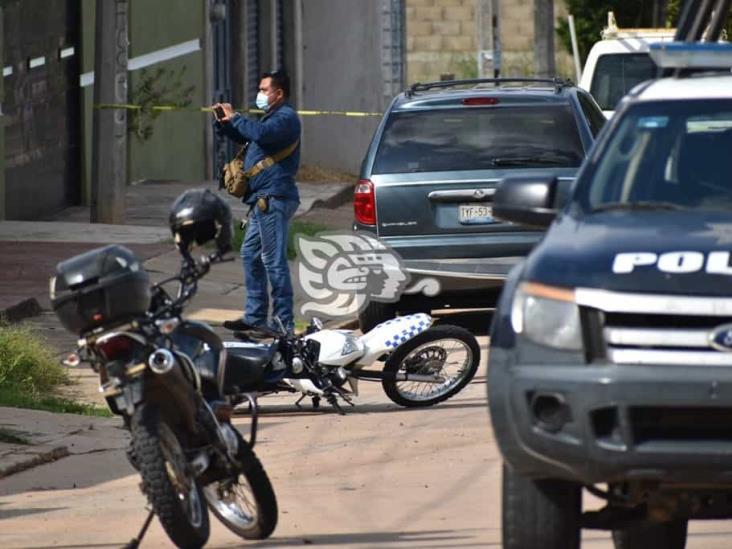 A balazos frustra Policía Municipal violento robo en Oluta